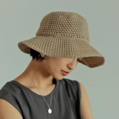 透かし編みサーモハット