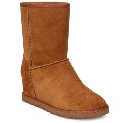 アグ レディース ブーツ&レインブーツ シューズ UGG Classic Femme Short Wedge Boots Chestnut