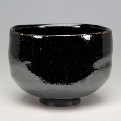 茶道具 楽茶碗(らくちゃわん) 「東陽坊」写 黒楽茶碗 楽入窯
