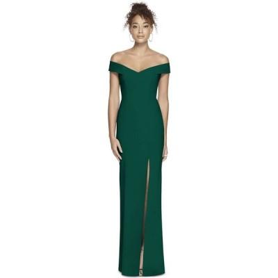 ディシーコレクション Dessy Collection レディース ワンピース マキシ丈 ワンピース・ドレス Off-The-Shoulder Maxi Dress Hunter Green