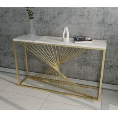 高級サイドテーブル コンソールテーブル .玄関テーブル 花台 電話台 アンティーク調デザイン 幅度80cm 大理石