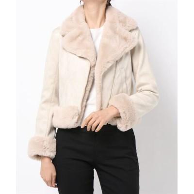 MEW'S REFINED CLOTHES / エコファーライダース WOMEN ジャケット/アウター > ライダースジャケット