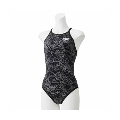 Speedo(スピード) 練習水着 女の子 ジュニア スーツ ブーン ターンズ 競泳 トレーニング STG01954 ブラック×ホワイ