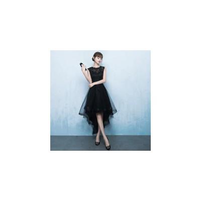 パーティードレス  フィッシュテイルドレス  花柄刺繍レース ワンピース【XS-XXLサイズ】