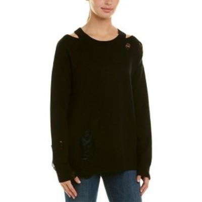 ファッション トップス N:Philanthropy Womens Philanthropy Julian Silk-Blend Sweater Xs Black