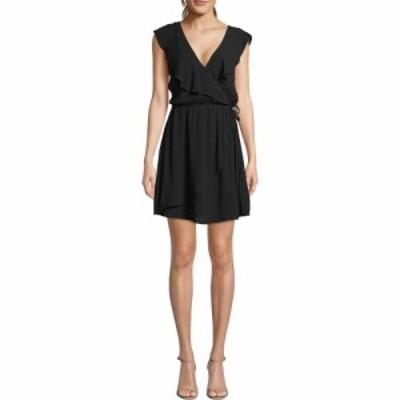 ビービーダコタ BB Dakota レディース ワンピース ラップドレス ワンピース・ドレス Crinkle Rayon Faux Wrap Dress Black