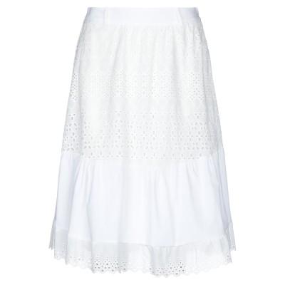 ZAHJR 7分丈スカート ホワイト M コットン 100% 7分丈スカート