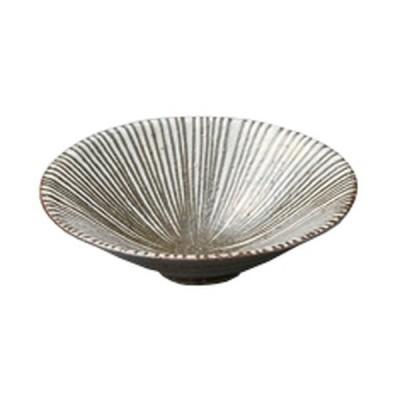 向付 和食器 / 黒陶線文18.0鉢 寸法:18 x 5cm