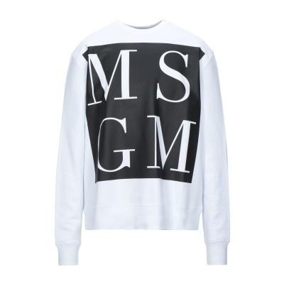 エムエスジーエム MSGM スウェットシャツ ホワイト M コットン 100% スウェットシャツ