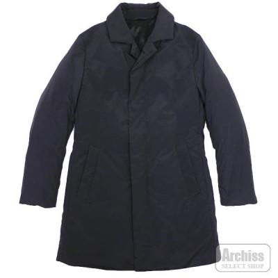 エポカ EPOCA UOMO ダウン コート ジャケット メンズ 黒 ブラック 比翼 ステンカラー デザイン 44サイズ M1C71-454-09 S56301