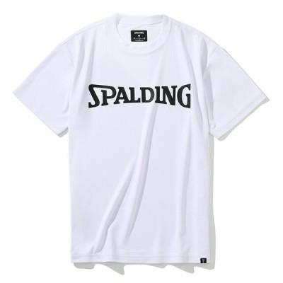 SPALDING/スポルディング SMT201350  バスケットボール 半袖Tシャツ(スポルディングロゴ) WH