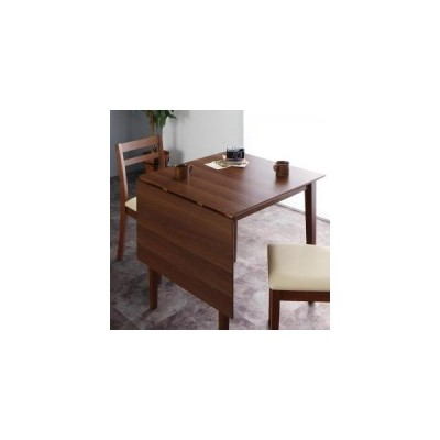 伸縮式 ダイニングテーブル W75-120 テーブルのみ 北欧 コンパクト シンプル ヴィンテージ レトロ 木目 食卓机