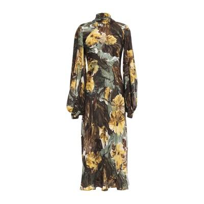 エリカ カヴァリーニ ERIKA CAVALLINI ロングワンピース&ドレス グリーン 38 シルク 100% ロングワンピース&ドレス