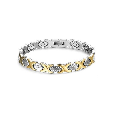 SunnyHouse Jewelry Stainless Steel Lady's Magnetic Bracelet Simple Style An