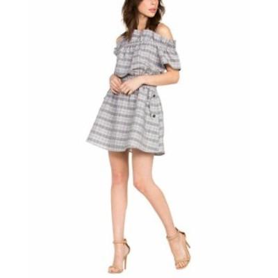 Marvel  ファッション ドレス Dance & Marvel Cold-Shoulder Linen-Blend Dress