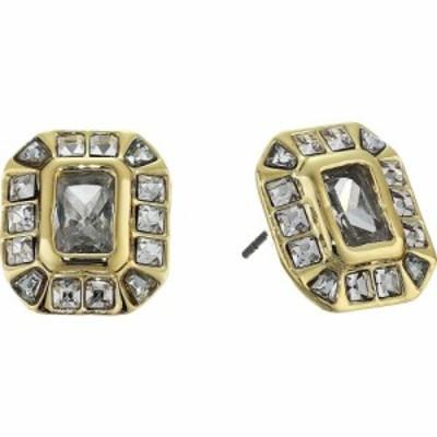 ヴィンス カムート Vince Camuto レディース イヤリング・ピアス ジュエリー・アクセサリー Asher Cut Stud Earrings Gold/Crystal