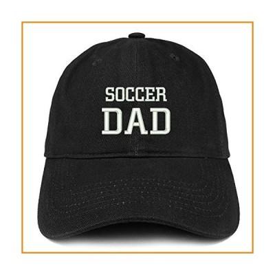 Trendy Apparel Shop Soccer Dad Embroidered Soft Cotton Dad Hat - Black_並行輸入品