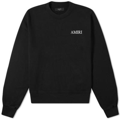 アミリ AMIRI メンズ スウェット・トレーナー トップス large logo crew sweat Black