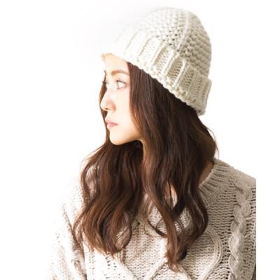 QUEENHEAD / リリーフニットキャップ WOMEN 帽子 > ニットキャップ/ビーニー