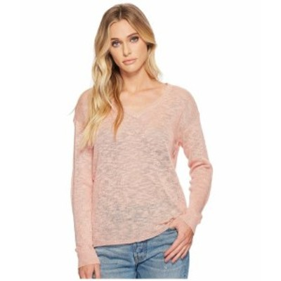 Michael Stars マイケルスターズ 服 スウェット Linen Blend Sweater V-Neck Pullover with Back Keyhole