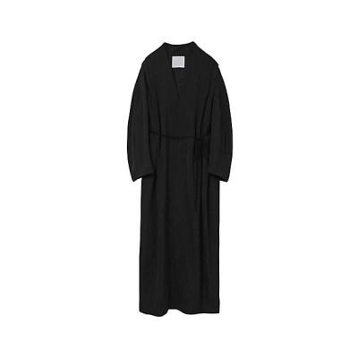 <Mame Kurogouchi(Women)/マメ クロゴウチ> Tulip Motif Jacquard Coat BLACK【三越伊勢丹/公式】