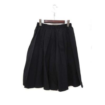 【中古】リエス Liesse メルローズ スカート 3 黒 ブラック ひざ丈 フレア 無地 シンプル レディース 【ベクトル 古着】