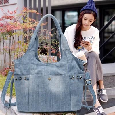 デニムバッグ トートバッグ 2WAYデニムトートバッグ レディース メンズ 大容量 ユニセックス キャンバス トートバック A4 デニム 布 カバン韓国ファッション