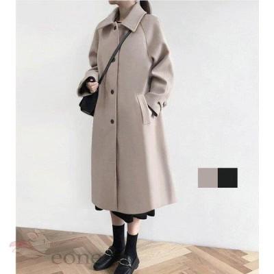 ラシャコート レディース アウター 無地 長袖 かわいい カジュアルコート ゆったり 体型カバー 女性用 防寒着 暖かい 学生 通学