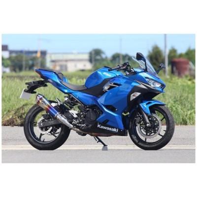 アールズギア ワイバンリアルスペック スリップオン Type R マフラー[チタンドラッグブルー]   Ninja250('18〜) RK33-03RD