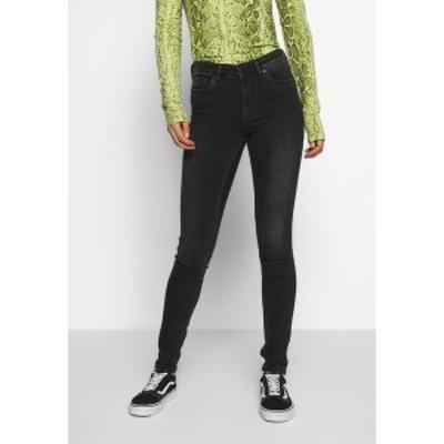 モンキ レディース デニムパンツ ボトムス MOCKI WASHED - Jeans Skinny Fit - black dark black dark