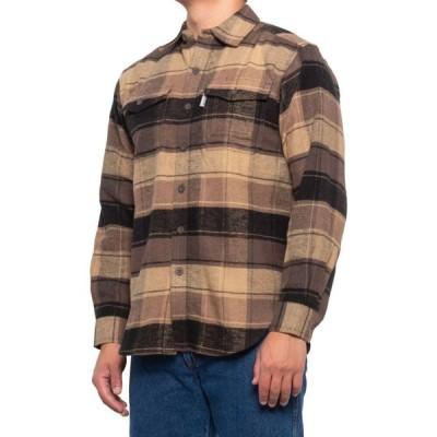 ウルヴァリン Wolverine メンズ シャツ フランネルシャツ トップス Blake Flannel Shirt - Long Sleeve Brown Plaid