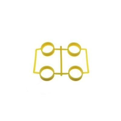 【送料全国一律270円】イーグル(EAGLE)/MINI4-RT01-YE/SP大径レーシングタイヤ内径23.5mm1.7mm厚:ミニ4(イエロー)