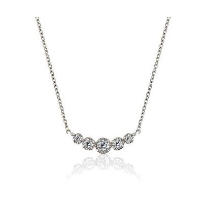 ミワホウセキ miwahouseki K18 ホワイトゴールド ダイヤモンド 0.12ct クラシカル ネックレス