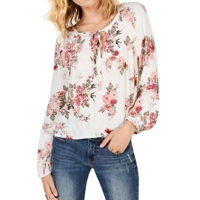 レディース 衣類 トップス Women Floral Print Tied V Neck Ruching Blouse ブラウス&シャツ