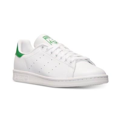 アディダス スニーカー シューズ レディース Women's Stan Smith Casual Sneakers from Finish Line WHITE/WHITE/GREEN