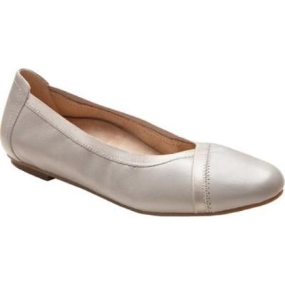 バイオニック Vionic レディース スリッポン・フラット バレエシューズ シューズ・靴 Caroll Ballet Flat Light Grey Leather