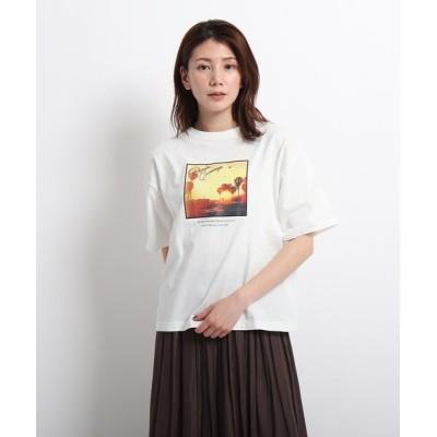 WORLD ONLINE STORE SELECT / 【CLASSY.6月号掲載/XS~L/洗える】フォトプリントTシャツ WOMEN トップス > Tシャツ/カットソー