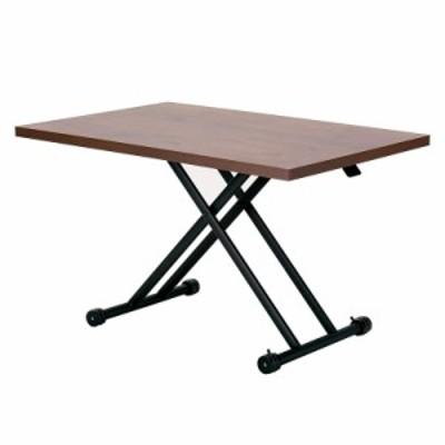 武田コーポレーション ダイニングガス圧昇降式テーブル 120×80×71.5 ブラウン T7-GDT120BR