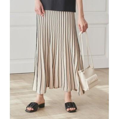 【S-3L】柔らかドライタッチタック編みニットスカート
