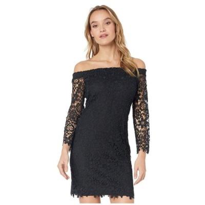 ベベ Bebe レディース ワンピース ワンピース・ドレス Off-the-Shoulder Chemical Lace Dress Black