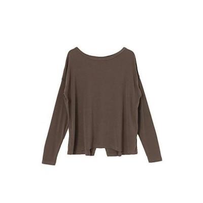 サニーレーベル tシャツ SLAB Cropped Long T-shirts レディース LA03-21C202 ブラウン FREE