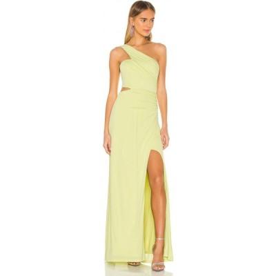 ビーシービージーマックスアズリア BCBGMAXAZRIA レディース パーティードレス ワンピース・ドレス One Shoulder Cut Out Gown Lime Sherbet