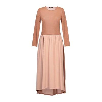 SISTE' S 7分丈ワンピース・ドレス 赤茶色 XS ポリエステル 78% / ナイロン 17% / ポリウレタン 5% 7分丈ワンピース・ドレス