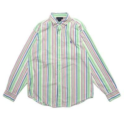 ポロラルフローレン ワンポイントロゴ ボタンダウン シャツ ストライプ サイズ表記:XL(20)