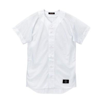 DESCENTE(デサント) ユニフォームシャツ(フルオープンシャツ) XO Sホワイト STD-90T