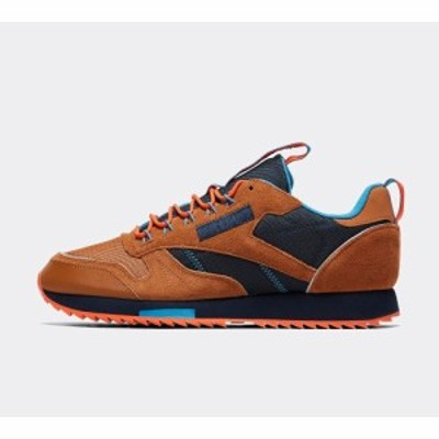 リーボック Reebok メンズ スニーカー シューズ・靴 classic leather ripple trainer Wild Brown/Collegiate Navy