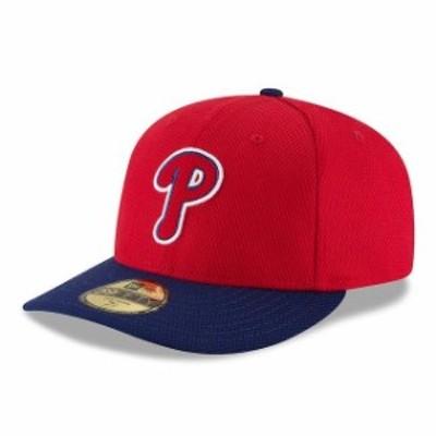 New Era ニュー エラ スポーツ用品  New Era Philadelphia Phillies Red/Navy Diamond Era Low Profile 59FIFTY Fitted Hat