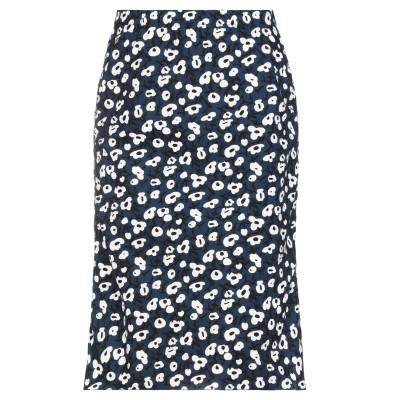 マルニ MARNI ひざ丈スカート ダークブルー 40 コットン 100% ひざ丈スカート