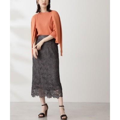 スカート 【追加生産】◆ケミカルレースロングスカート