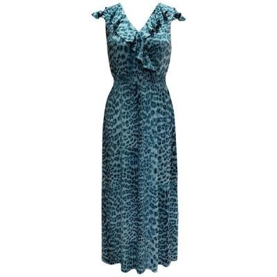 アイエヌシーインターナショナルコンセプト ワンピース トップス レディース INC Ruffled Surplice Maxi Dress,  Soft Cheetah